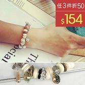 手環 波西米亞 金屬 拼接 彩色 水晶 串珠 手鍊【DD1604028】 BOBI  11/23