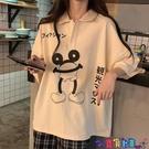 短袖POLO衫 翻領polo衫短袖T恤女洋氣2021夏季新款韓版潮寬鬆百搭減齡上衣寶貝計畫 上新