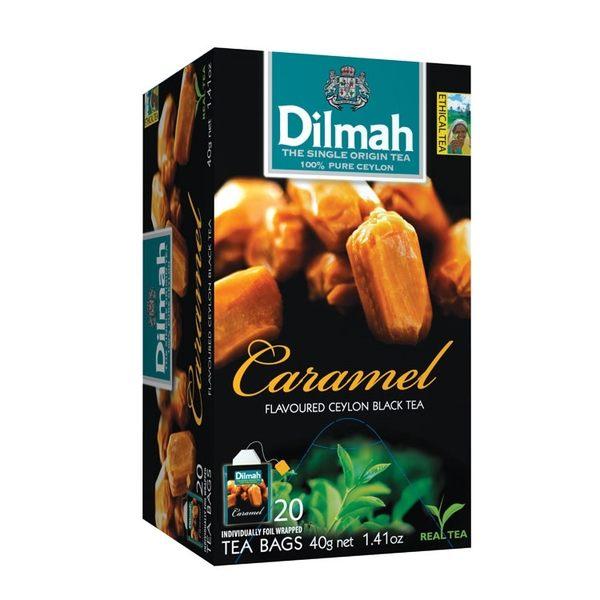 Dilmah 帝瑪 焦糖口味紅茶 茶包 2g*20入/盒-【良鎂咖啡精品館】