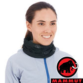 【MAMMUT 長毛象】圍脖『黑/鈦金灰』1191-05812 戶外 運動 露營 跑步 馬拉松 頭巾 髮帶 圍巾 休閒帽