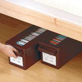 inomata收納盒DVD碟片整理盒超大容量CD收納盒ps4光碟盒IGO  檸檬衣舍