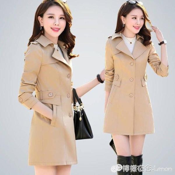 秋裝新款女裝韓版修身氣質收腰英倫風春秋裝外套風衣女中長款 雙十二全館免運
