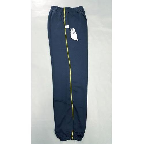 【MIT】台灣製造工作運動褲【6918-7-L】 束口褲管-藍色 側邊細黃條●夏季限定≡輕薄【 守門員】