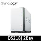 Synology 群暉科技 DiskStation DS218j 2Bay NAS 網路儲存設備(不含HDD/SSD)