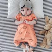 女嬰兒連體衣服夏裝新生兒5夏天3個月6薄款2男寶寶哈衣0-1歲7純棉  enjoy精品