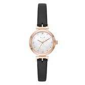 ELLE  ODEON系列晶鑽貝殼面腕錶-黑