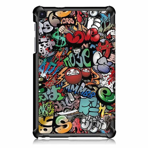 三星GalaxyTabA10.1T5108.0平板皮套P200P205三折支架彩繪保護套平板套