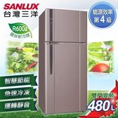 ★贈法國餐盤五件組 SANLUX台灣三洋 冰箱 480L雙門直流變頻冰箱 SR-B480BV