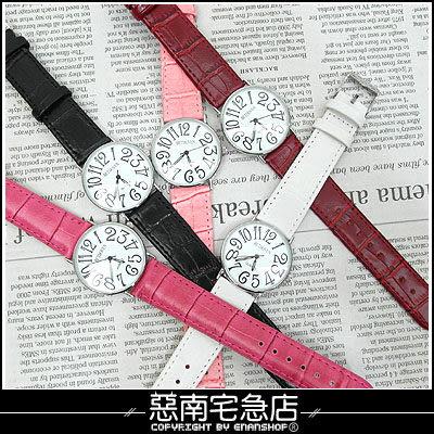惡南宅急店【0371F】第一次邂逅‧韓 特價 超薄設計美感『刻畫數字』手錶‧單價