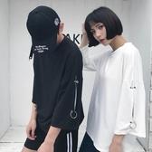 中大碼T恤 夏季新款韓版寬鬆學生T恤青少年七分袖情侶圓領上衣潮男2019新款