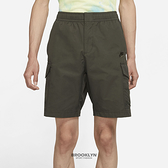 NIKE 短褲 NSW CARGO SHOR 軍綠 刺繡LOGO 工裝 多口袋 男 (布魯克林) DD4729-355