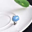 海藍寶托帕石 天然海藍寶戒指 925銀鑲嵌 情侶款