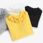 打底衫女童打底衫秋季新款長袖秋衣嬰兒童寶寶黑白色內搭半高領純棉童趣屋促銷好物