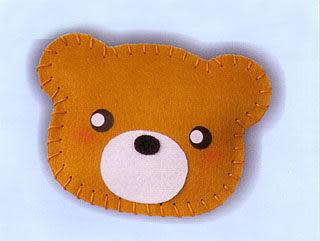 超簡單穿洞香包-小熊