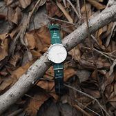 時尚簡約中性手錶無秒針設計男女情侶尼龍帶