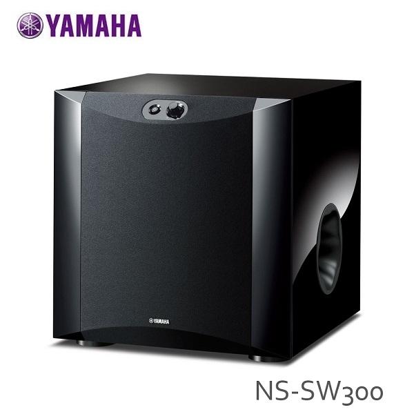 【結帳現折】YAMAHA NS-SW300 超低音喇叭 鋼琴黑 高效能功率擴大機 公司貨 SW300
