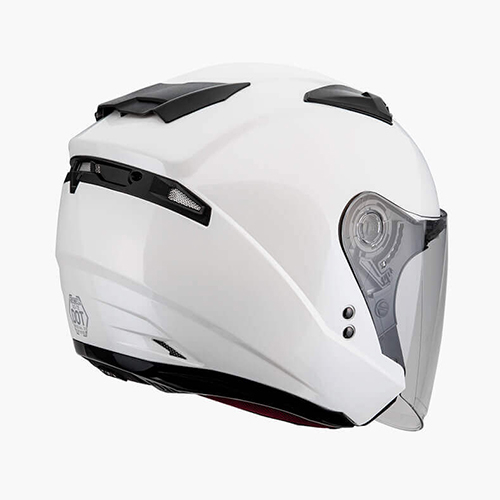 【東門城】SOL SO-7E 素色(珍珠白) 半罩式安全帽 雙鏡片