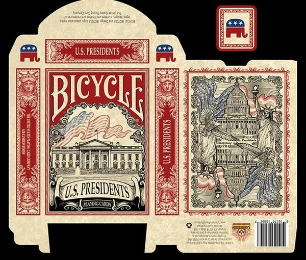 【USPCC撲克】Bicycle us president red 美國總統 紅 共和黨
