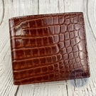 BRAND楓月 BOTTEGA VENETA BV 咖啡色 鱷魚紋 二折短夾 皮夾 錢包