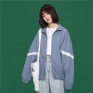 夾克外套 外套女春秋2021新款韓版原宿風寬鬆夾克學生百搭ins潮運動棒球服