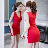 夏裝修身顯瘦打底裙夜場女裝 性感包臀連身裙【多多鞋包店】w239