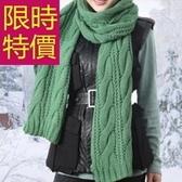 羊毛圍巾-針織名媛加厚禦寒保暖男女圍脖6色61y96【巴黎精品】