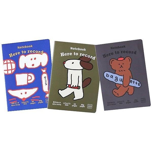 韓國 ROMANE 早午餐兄弟口袋筆記本(64頁)1入 款式可選【小三美日】Brunch Brother