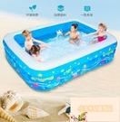 寶寶家庭洗澡泳池兒童游泳池家用充氣加厚折疊大型
