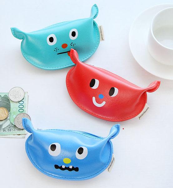 【00338】 韓國流行小物 俏皮小怪物可愛表情零錢包 收納包