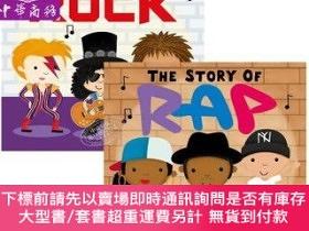二手書博民逛書店罕見原版 音樂的故事2冊 英文原版The Story of Rock Rap搖滾Y454646 Lindsey