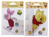 【卡漫城】小熊維尼 彩色造型貼紙 ㊣版 透明 防水 迪士尼 小豬 Winnie Pooh Piglet 台灣製造 裝飾貼