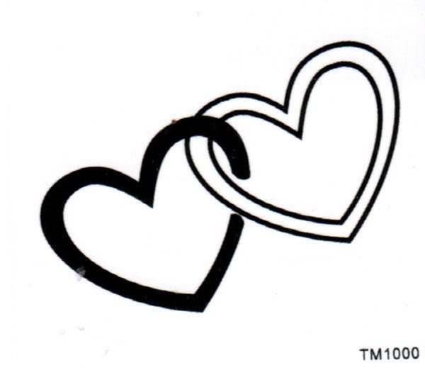 薇嘉雅  愛心 超炫圖案紋身貼紙  TM1000