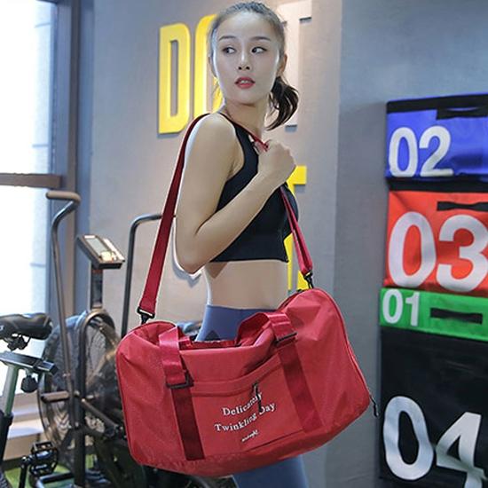 旅行袋 手提 旅行包 健身包 行李 拉桿包  收納包 韓版多功能健身包 【Y033】米菈生活館