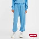 Levis 女款 重磅縮口棉褲 / 韓系家居服設計 / 精工刺繡Logo / 400GSM厚棉 / 天空藍