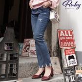 褲子 RCha。刷破造型牛仔長褲-Ruby s 露比午茶