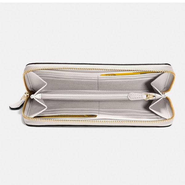 COACH F54805女式新款長款皮革手風琴錢夾