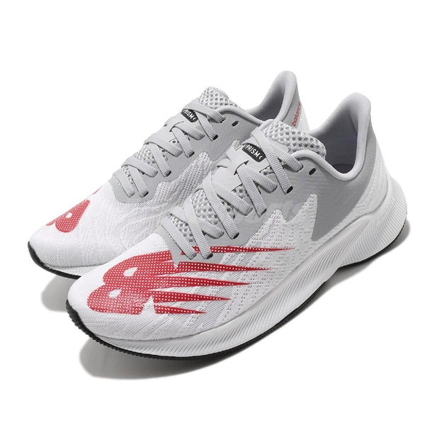 New Balance 慢跑鞋 FuelCell Prism Wide 白 灰 寬楦頭 女鞋 極速酷跑 運動鞋 【ACS】 WFCPZSCD