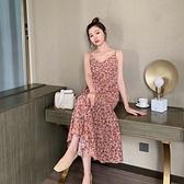 洋裝 裙子仙女超仙森系2021新款夏季碎花吊帶洋裝女法式長裙氣質顯瘦