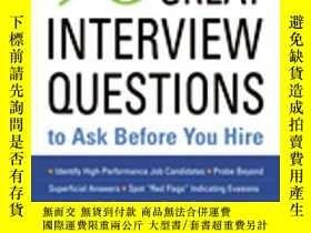二手書博民逛書店96罕見Great Interview Questions To Ask Before You HireY25