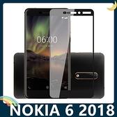 NOKIA 6.1 2018版 全屏弧面滿版鋼化膜 3D曲面玻璃貼 高清原色 防刮耐磨 防爆抗汙 螢幕保護貼 諾基亞