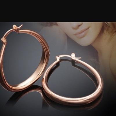 耳環 玫瑰金純銀-優雅氣質簡約百搭生日情人節禮物女飾品2色73bu9【時尚巴黎】