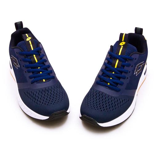 LIKA夢 LOTTO 厚底TPU輕量慢跑鞋 LIGHT FLY 輕飛行系列 藍黃 1206 男