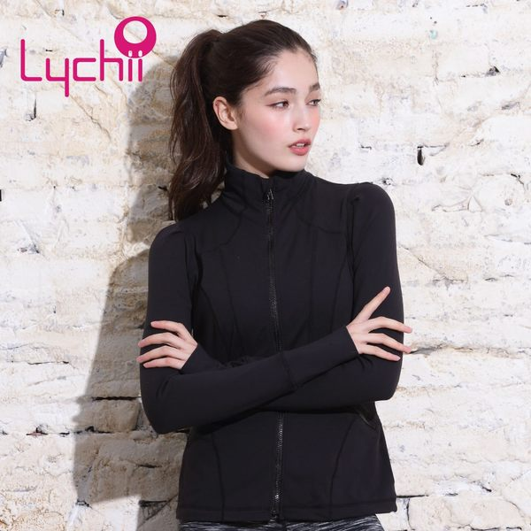 【Chi sport】運動瑜珈-修身剪裁反光高領外套-LC161T80