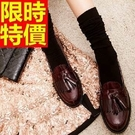 女流蘇牛津皮鞋搖滾風原創-真皮中跟英倫女鞋子2色65y3【巴黎精品】