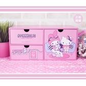 粉紅橫式三抽盒置物櫃小物收納文具收納生日   情人節 聖誕節