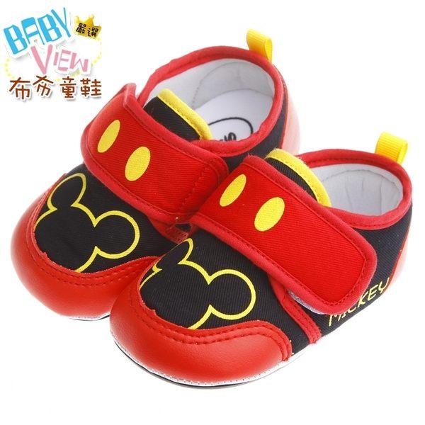 《布布童鞋》Disney迪士尼米奇紅色棉柔防滑寶寶學步鞋(14.5~16公分) [ MAN249A ]