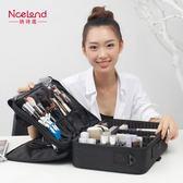 化妝包 中號多層專業化妝收納包美甲紋繡半永久工具箱