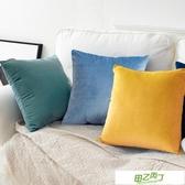 北歐抱枕正方形靠墊沙發靠枕客廳長方形靠背墊天鵝絨抱枕套不含芯 【降價兩天】