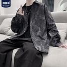 襯衫 男長袖韓版潮流帥氣秋季大碼寬鬆襯衣休閒百搭上衣外套