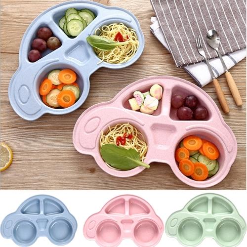 餐盤 環保小麥秸稈汽車造型分隔餐盤餐具 B7J042 AIB小舖